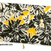 book sleeve with a floral pattern